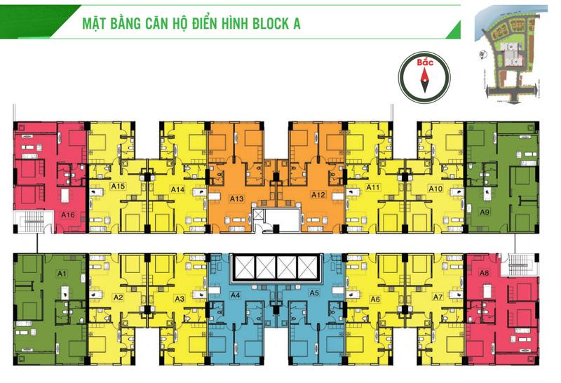 mặt bằng Block A căn hộ Homyland 3